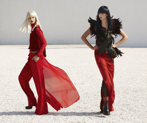 fashion, red, and avantgarde image