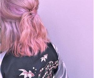 pink, pink hair, and style image