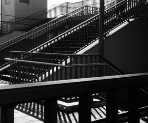 b&w, stairs, and stairways image