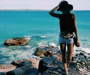 australia, blonde, and ocean image