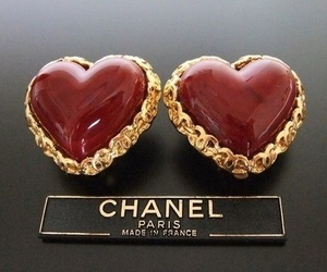 chanel, earrings, and red image