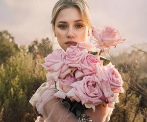 lili reinhart, girl, and rose image