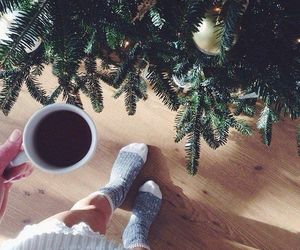 christmas, coffee, and winter image