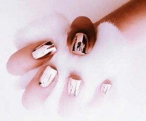 aesthetic, nails, and rose gold image