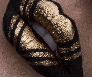 black lips, make-up, and g image
