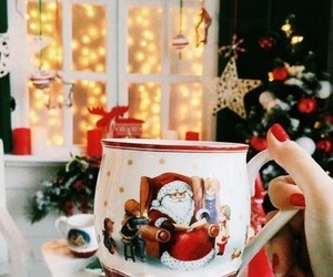 christmas, mug, and santa claus image