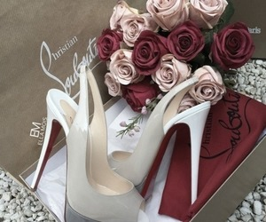 shoes, louboutin, and rose image