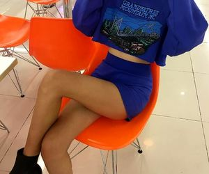 black ankle booties, blue skirts, and royal blue skirts image