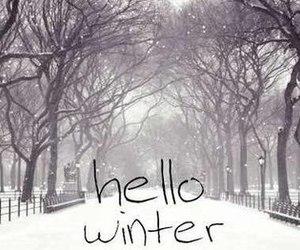 hello, snow, and winter image