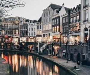 city, travel, and christmas image