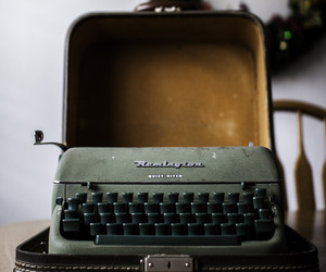 typewriter, vintage, and writing image