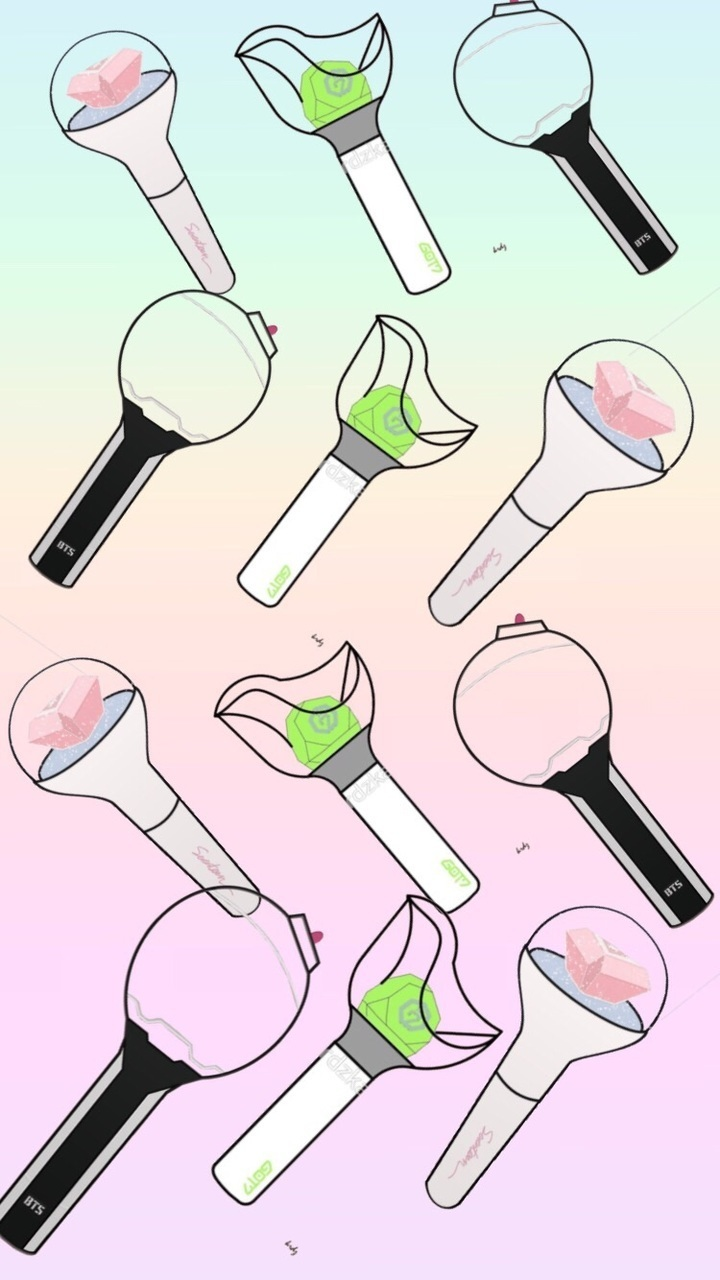 Bts Got7 Seventeen Light Stick On We Heart It