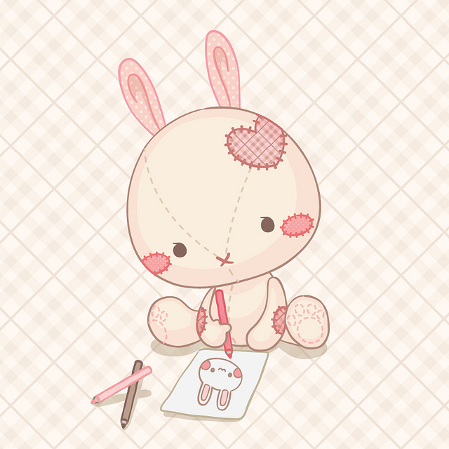 Artist Bunny Cute Drawing Illustration Inspiring Picture On