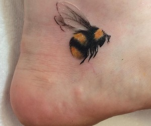 ankle, bee, and tattoo image