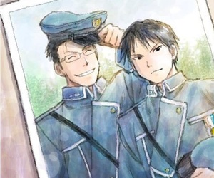 roy mustang and maes hughes image