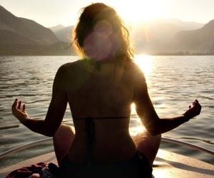 sun, yoga, and meditation image