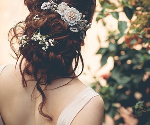 flowers, light, and hair image