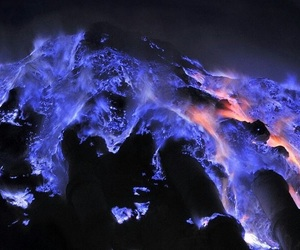 lava, volcano, and blue image