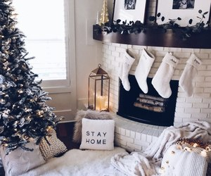 fireplace, christmas, and design image