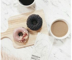 donuts, white grunge, and tumblr image