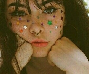 girl, glitters, and indie image