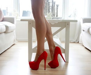legs, red, and shoes image
