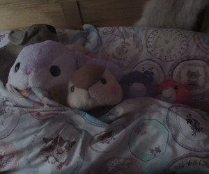 bed, carebears, and my room image