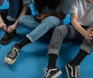 vans, grunge, and blue image