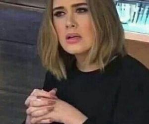 meme, reaction, and Adele image