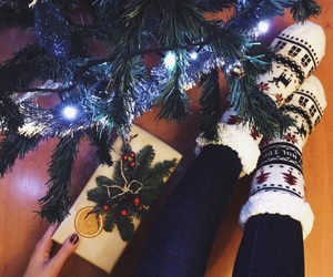 christmas, cozy, and gifts image