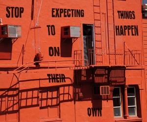 quotes, building, and orange image