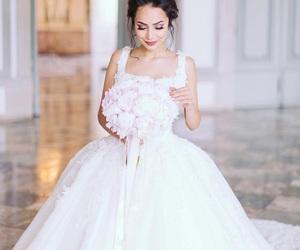 wedding, dress, and white dress image