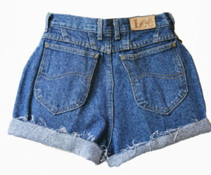 etsy, high waisted shorts, and vintage outfit image