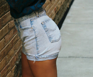 etsy, high waisted shorts, and high waisted jeans image