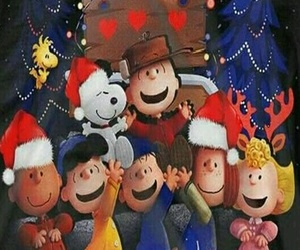 background, charlie brown, and christmas image