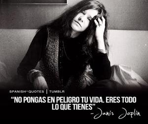 janis joplin, life, and quote image