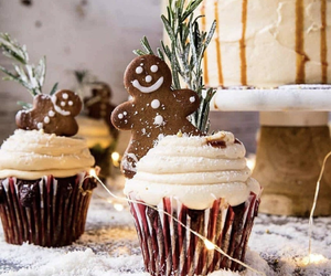 cupcake, christmas, and holiday image
