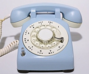 blue, vintage, and telephone image