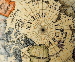 globe, map, and aesthetic image