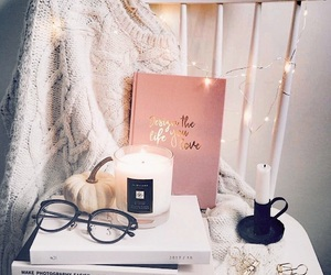 book, aesthetic, and candle image