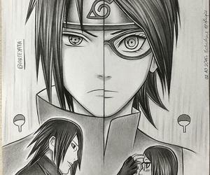 sasuke, sarada, and anime image