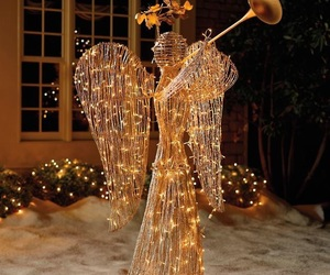 angel, christmas, and lights image
