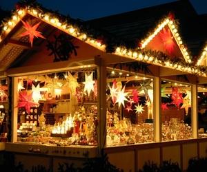 christmas, shopping, and lights image