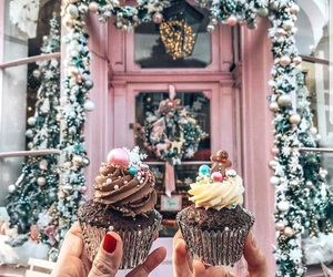 christmas, winter, and cupcake image