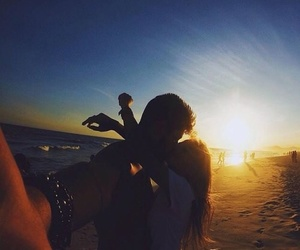 couple, kissing, and goals image