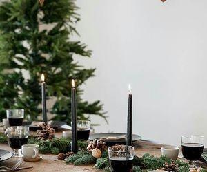 candles, christmas, and food image