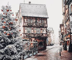 snow, beautiful, and christmas image