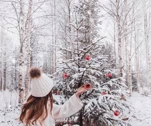 snow, christmas, and white image