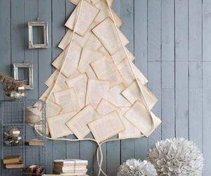 christmas, tree, and book image