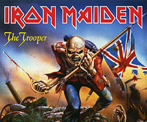 iron maiden, metal, and music image